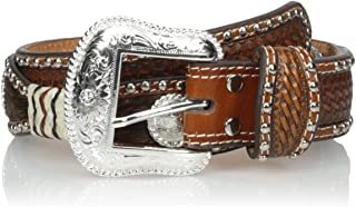 Nocona Men's Circle Scallop Two-Tone Raw Belt