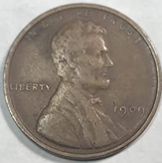 1909 P Lincoln First year Wheat Penny Cent Fine