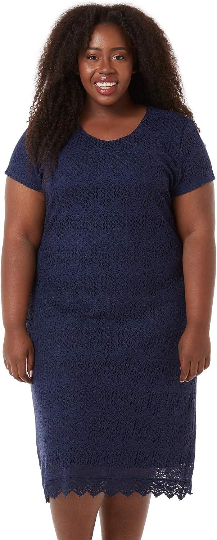 Downeast Women's Tulsa Mall Max 58% OFF Short Sleeve Peaceful Dress Lace