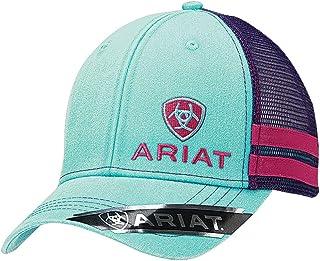 ARIAT Women's Offset Logo Stripe Mesh Snap Cap