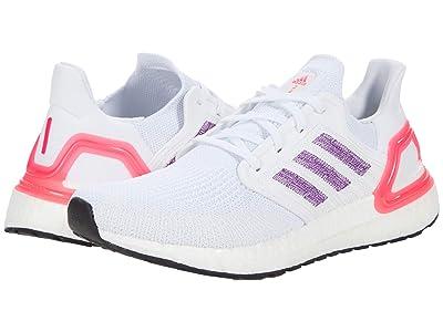 adidas Running Ultraboost 20 (Footwear White/Glory Purple/Echo Pink) Women