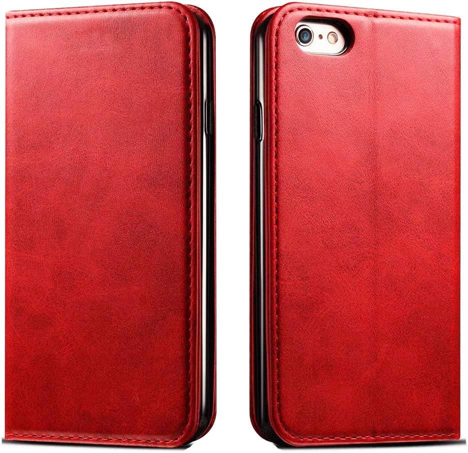 FDTCYDS Etui iPhone 6,Coque iPhone 6s Pochette Portefeuille en Cuir Véritable Coque de Protection pour Housse Apple iPhone 6 / 6s avec Fonction...