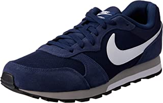 Nike Australia Men's MD Runner 2 Trainers, Midnight Navy/White-Wolf Grey