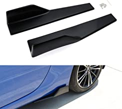 iJDMTOY Left/Right Black PP Universal Rear Side Skirt Winglets Diffusers For Car
