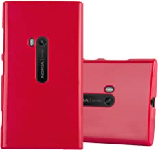 Cadorabo Case Works with Nokia Lumia 920 in Jelly RED – Shockproof and Scratch Resistant TPU Silicone Cover – Ultra Slim Protective Gel Shell Bumper Back Skin