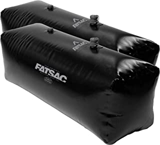 Fat Sac V-Drive Wakesurf Wakeboard Boat Floor Ballast Bag Set 42 x 16 x 16 - Two 400 lbs Each - 800 Total lbs - Extra Valve Included - Black