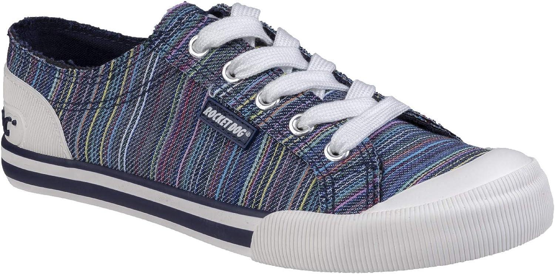 Rocket Dog Womens Jazzin Canvas Lace Up shoes Navy Size UK 7 EU 40