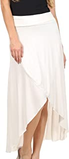 Soft Jersey Feel Solid Color Strapless High Low Dress/Skirt