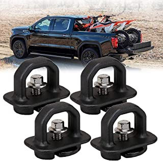 Truck Bed Tie Downs Anchors,4PCS Truck Bed Side Wall Anchors Tie Down Anchors Hook Ring Cargo Side Wall Anchors 07-18 Chevy Silverdo/GMC Sierra 15-18 Chevy Colorado/GMC Canyon Trucks Cargo Pickup