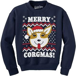 Merry Corgmas Ugly Christmas Sweater Unisex Dog Lover Crew Neck Sweatshirt