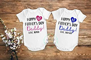 First Fathers Day Baby Bodysuit | Fathers Day Personalized Gift | Baby Boy Outfit | Baby Girl Outfit | Happy Fathers Day Daddy