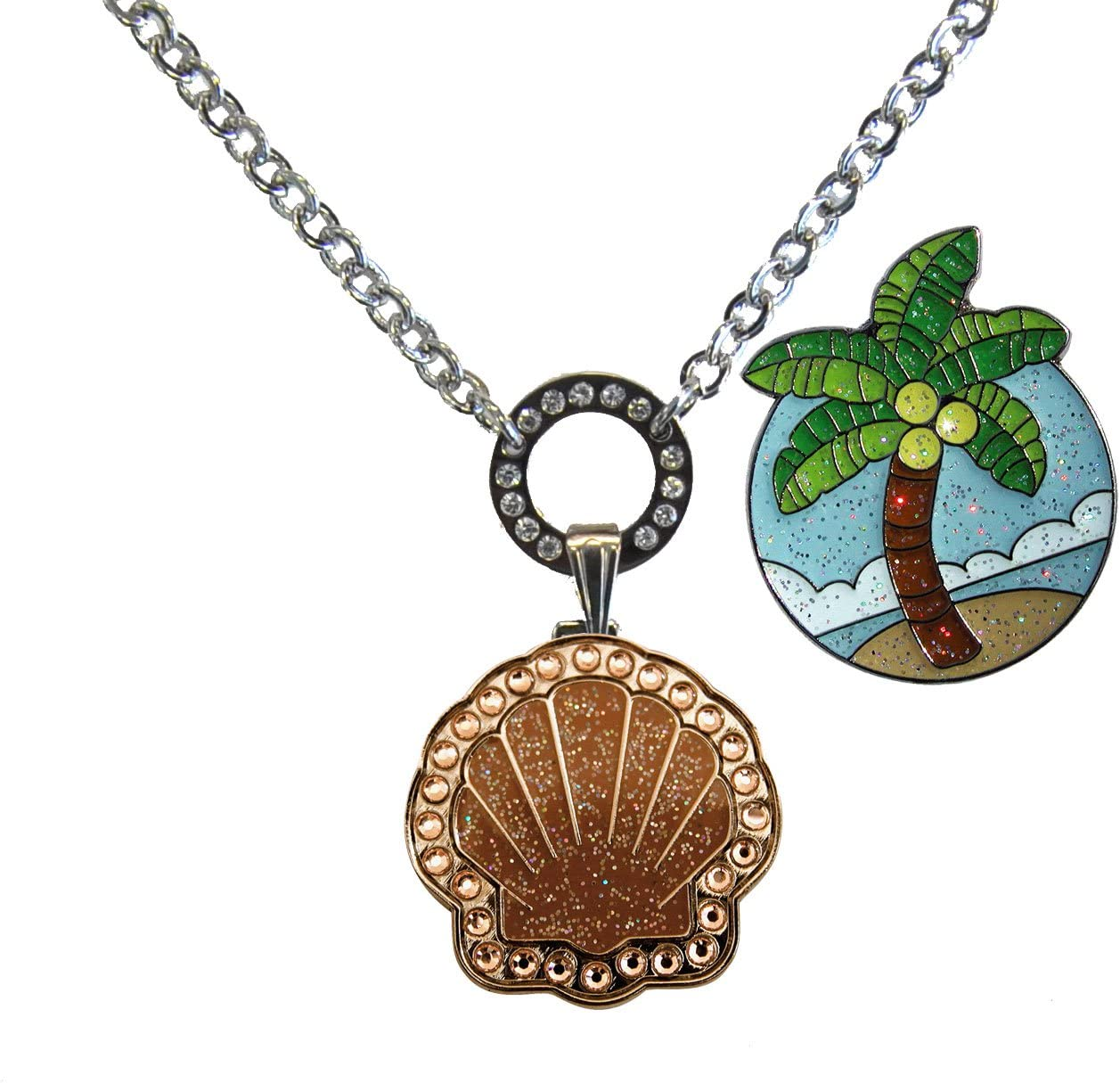 Navika Magnetic Ball High quality Philadelphia Mall Marker Necklace w with Adorned Bronze Shell