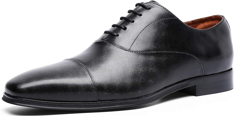 DESAI Men's Dress shoes Oxfords Double Monk Strap Genuine Leather