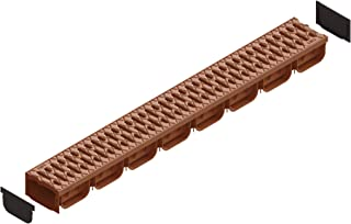 Standartpark- 4 Inch Trench Drain System with Grate - TERRACOTTA (1)