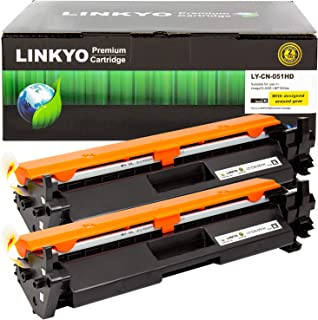 Best LINKYO Compatible Toner Cartridge Replacement for Canon 051H 051 High Capacity (Black, 2-Pack) Review