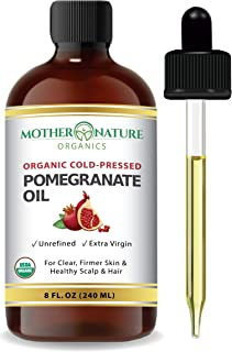 Organic Pomegranate Seed Oil. 100% Pure Unrefined Cold Pressed Essential Oil. Unclog Pores, Remove Dirt, Acne From Skin. N...
