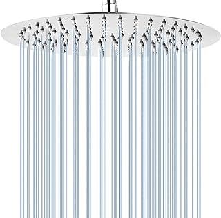 GGStudy Round 16 Inch Stainless Steel Shower Head - Rain Style Shower Head Chrome