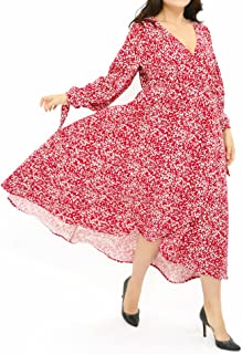 2c77201f54b33 OZEA LADY Women s Midi Dress Floral Swing Cocktail Dresses Casual Party  Wedding Summer