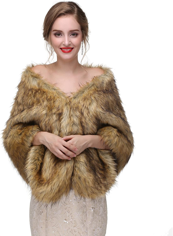 Adonis Pigou Women's Wedding Branded goods Shawl Faux Even Wraps Ranking TOP15 Fur for Scarf
