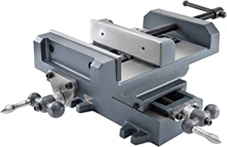 Mophorn 8 inch X-Y Cross Slide Drill Press Vise Metal Milling Vice Holder Clamping Bench Mount With Free Double Screw Rods (8 Inch)