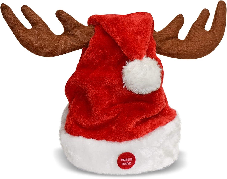 35% shipfree OFF BenefitUSA Christmas Singing Dancing Santa Hat for Elk Horn