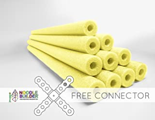 Oodles of Noodles Deluxe Foam Pool Swim Noodles 10 Pack Yellow 52 Inch Wholesale Pricing Bulk Pack Free Connector