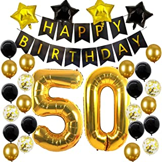 Best black and gold 50th party decorations Reviews