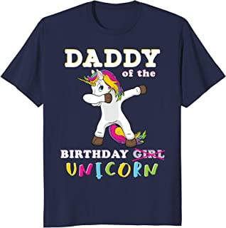 Daddy of the Birthday Girl T Shirt Dabbing Parent