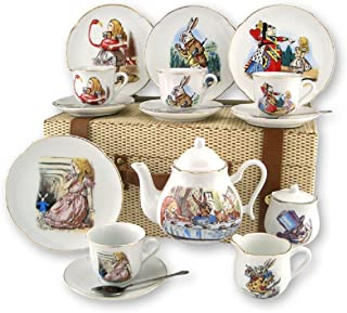 Reutter Porcelain - Alice in Wonderland Large Picnic Set in Case