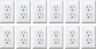 Fake Outlet Stickers Prank - Airport Wall Sockets - 12 pack - Funny Electrical Power Plug Plate Cover Decals (US)