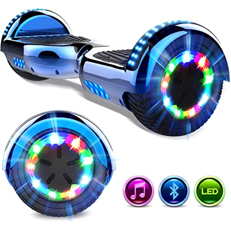 GeekMe Hoverboards 6.5 '' Self Balance Scooter Las Ruedas LED Luces, Scooter eléctrico con Bluetooth - Patinete Eléctrico