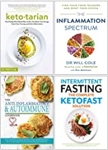 Ketotarian, The Inflammation Spectrum, The Anti-inflammatory & Autoimmune Cookbook, Intermittent Fasting The Complete Ketofast Solution 4 Books Collection Set