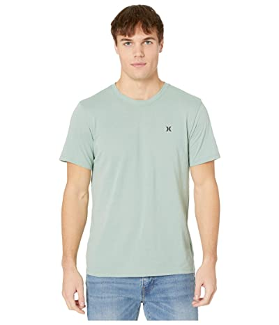 Hurley Dri-Fit Staple Icon Reflective Short Sleeve Tee (Silver Pine) Men