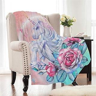Zevrez Soft Unicorn Blanket for Girls Plush Sherpa Fleece Blanket Large for Bed Couch Sofa Pink Throw Blanket Twin Size for Girls Kids Adult(Unicorn 2, 60x 80)