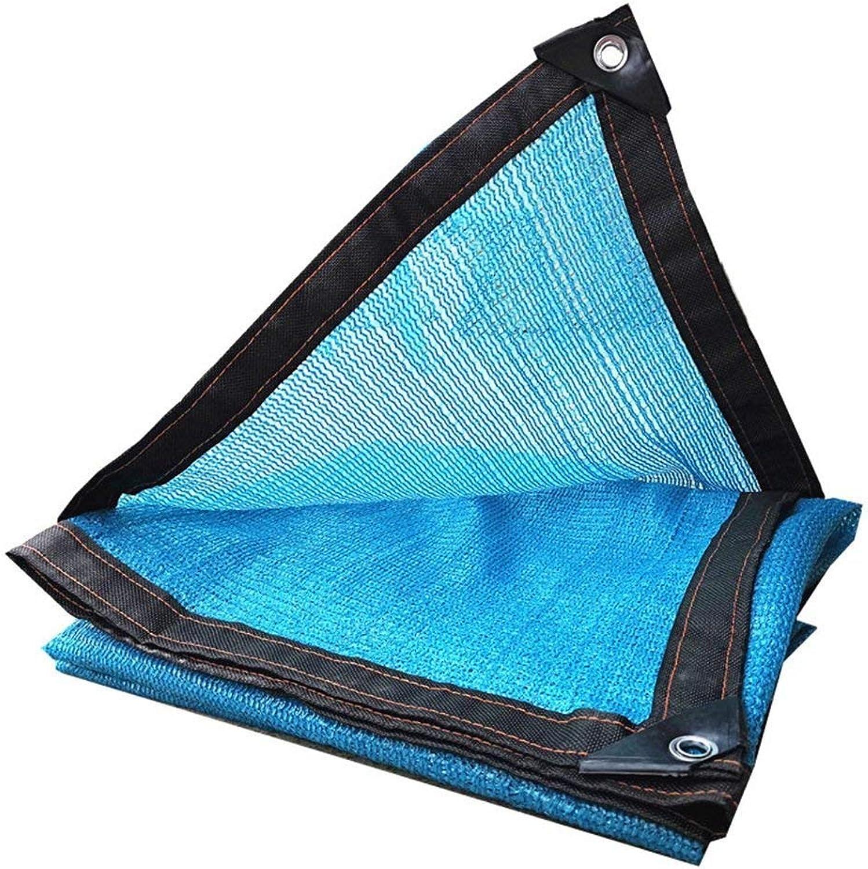 Shade Cloth, Shade Sails Shade Cloth Shading Net Sun Mesh UV Resistant Net Sunscreen Net Sun Net Sunblock Windbreak Rainproof Windproof blueee Surrounding Punch 6pin (color   3  6m)