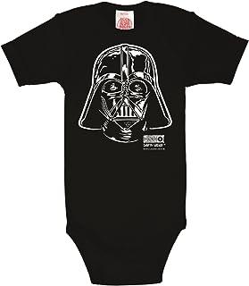 Logoshirt Star Wars - Krieg der Sterne - Darth Vader Baby-Body Kurzarm Junge - Baby Strampler - schwarz - Lizenziertes Originaldesign
