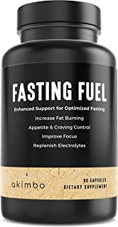 Akimbo Fasting Fuel - All-in-One Intermittent Fasting & Dieting Support, Keto, Paleo, Vegan, Appetite Suppressant, Electro...