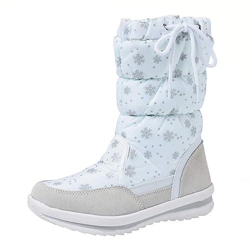 62ca2f72a7aaf Shenji Scarpe Donna Invernali - Stivali da Neve A Mezza Gamba  Antisdrucciolo H20612