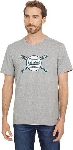 Baseball and Bats Crusher Tee