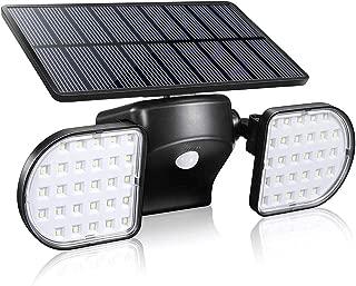 Motion Sensor Light Outdoor, YULAMP 56 LED Solar Light Outdoor With Motion Sensor Wall Light Adjustable Solar Motion Sensor Spotlight Waterproof 360-Degree Solar Powered Security Light for Yard Garden