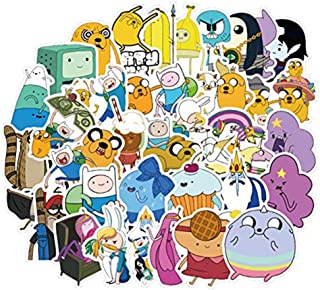 Adventure Time Themed Decal Stickers Waterproof Vinyl Scrapbook Stickers Car Motorcycle Bicycle Luggage Decal 50pcs Pack (Adventure Time)
