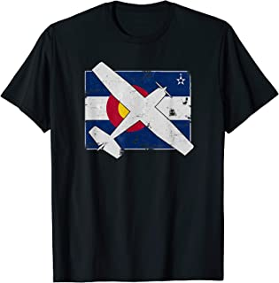 Colorado Pilots State Flag C172 Skyhawk Airplane Vintage T-Shirt