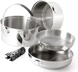 GSI Outdoors Glacier Stainless Steel Cookset