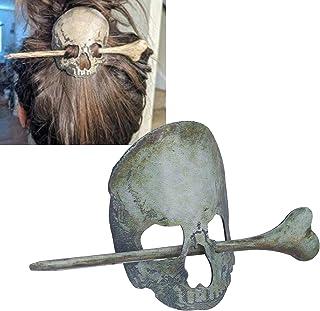 Ozdoba do włosów na Halloween, żelazna spinka do włosów straszna do baru do domu na imprezę (szkielet)