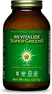 HealthForce SuperFoods Revitalize SuperGreens - 8 oz Powder - Natural Green Superfood Complex with Antioxidants - Supports...
