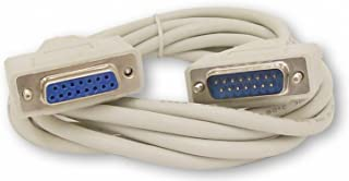 Your Cable Store 10 Foot DB15 15 Pin Serial Extension Cable