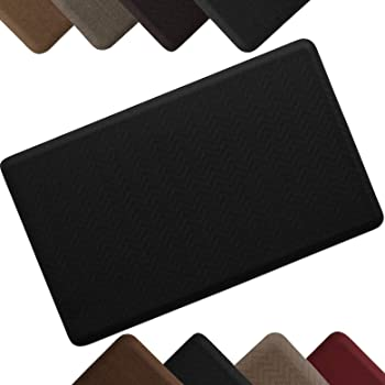 """Taupe High Traction Commercial Surface with /¾/"""" polyurethane foam for health /& wellness 20x32 NewLife Eco-Pro by GelPro Anti-Fatigue Stand Desk and Comfort Work Floor Mat"""
