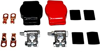 A-Team Performance Military Spec Battery Terminal Top Post Kit — 12 Items — 2x Covers, 4x Copper Lugs and 4x Heat Shrink
