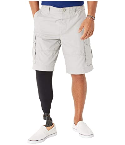 Tommy Hilfiger Adaptive Cargo Shorts with Adjustable Waist and Magnet Buttons (Drizzle) Men