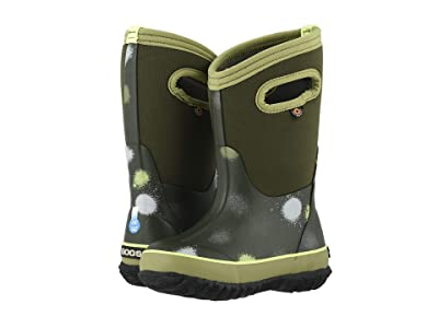 Bogs Kids Classic Funprint (Toddler/Little Kid/Big Kid) (Green Multi) Boys Shoes